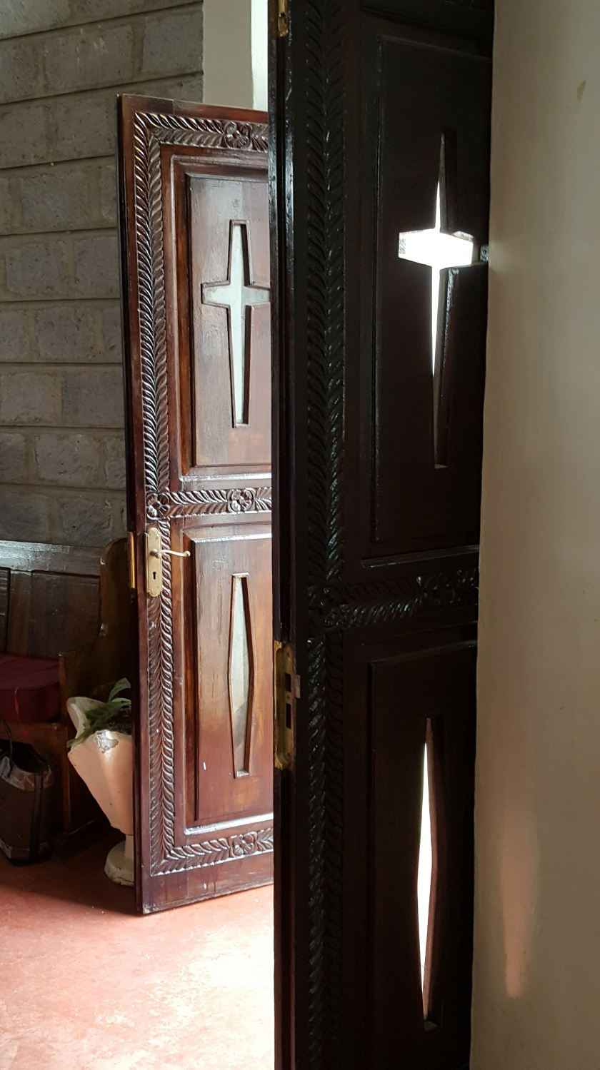 Nairobi Church door w crosses