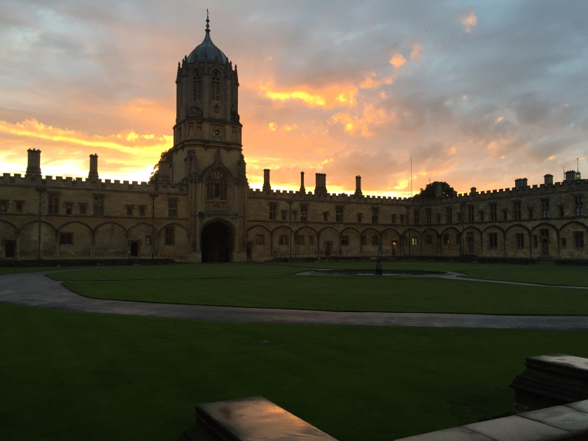 Sunset over Christ Church, Oxford 9-17