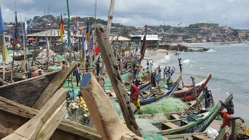 FIshing boats, Cape Coast, Ghana
