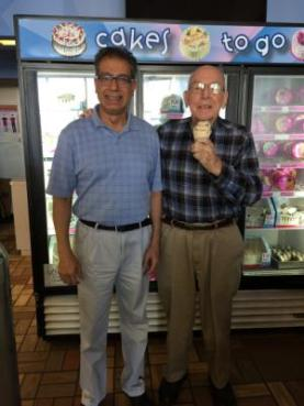 Daryl RIchman with ice cream, and friend Javid 5-18