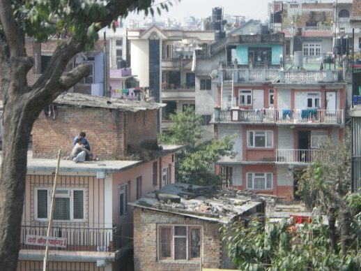 Istanbul, tenement rooftops, laundry