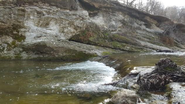 McKinney Falls gushing river