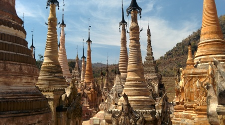 Myanmar temple spires