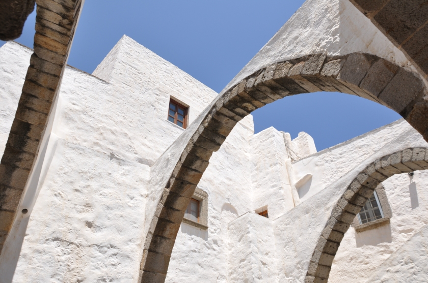 Patmos arches and sky