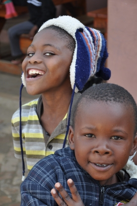 S Africa, Kuyasa 2 boys being funny