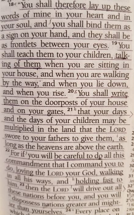 Bible, Deuteronomy 11