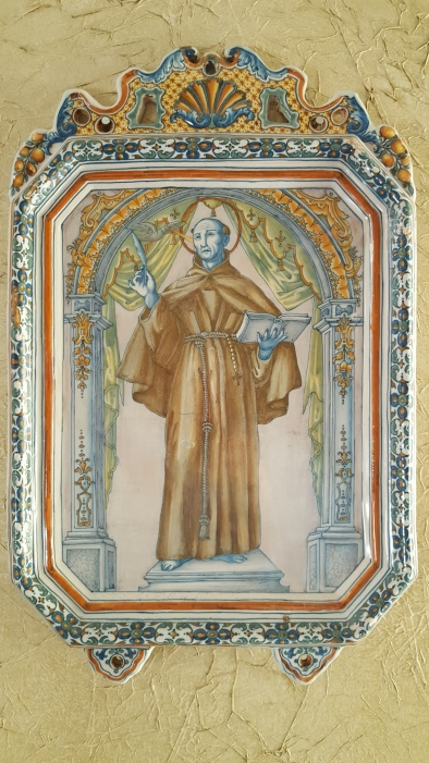 Delft polychrome of a saint, 1760