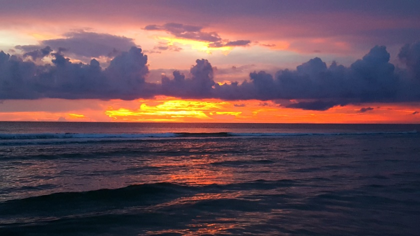 Fiery sunset over Gulf