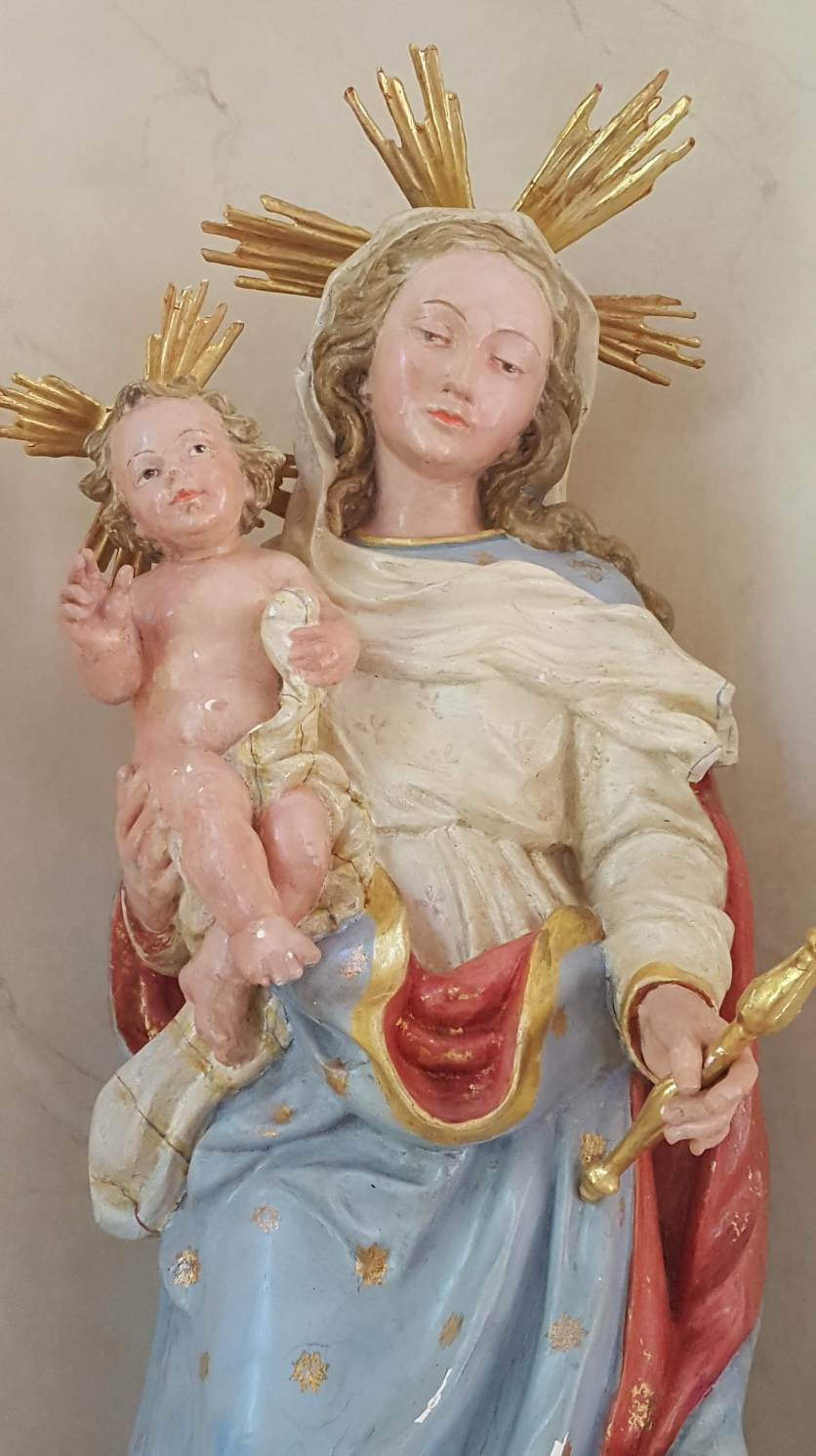Mary and Christ child, Albemarle Estate chapel