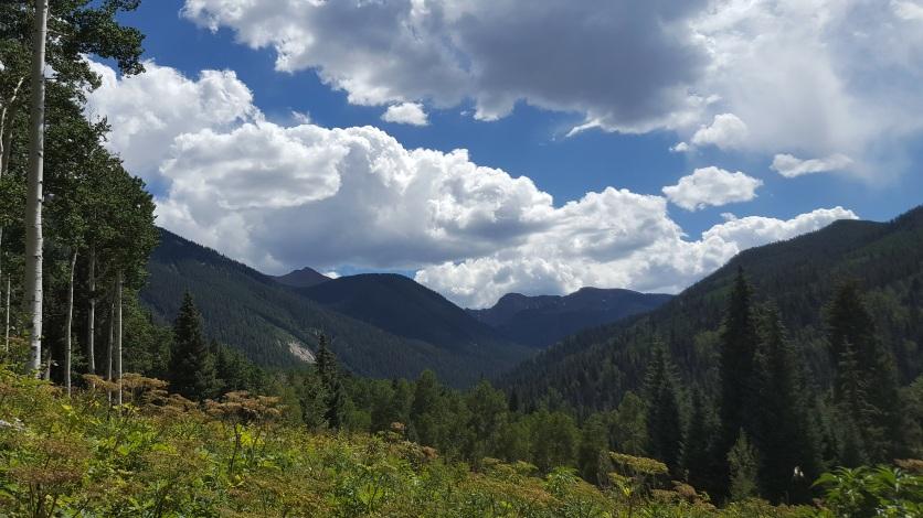 Mountain view w layers, clouds, Beaver Creek CO