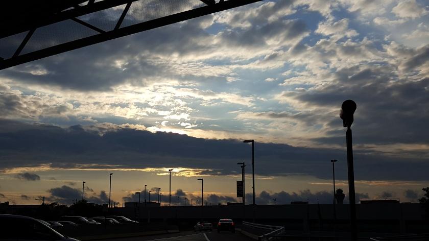 Sky meets man at sunset, Austin