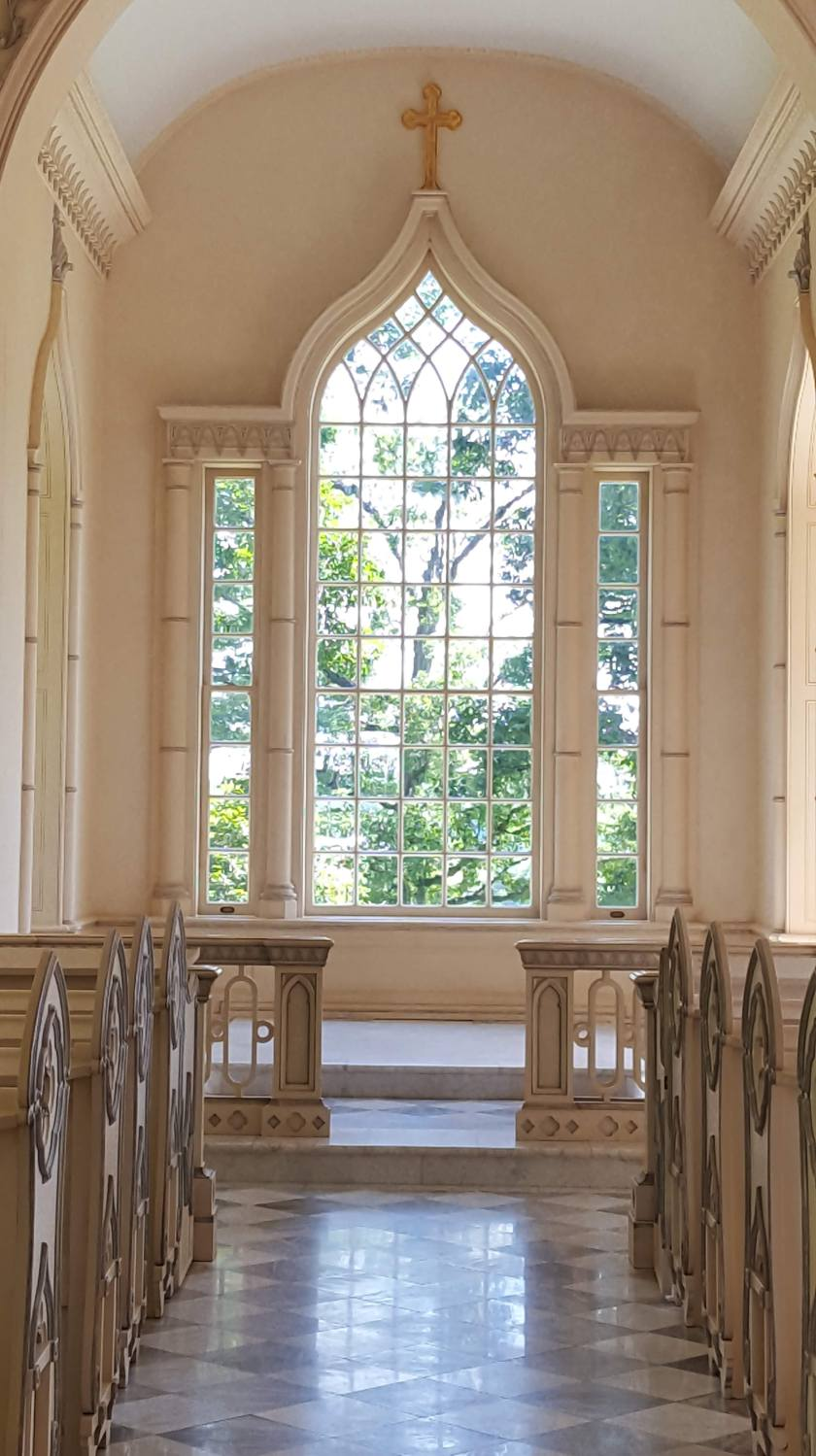 Albemarle Estate chapel window, Charlottesville, VA