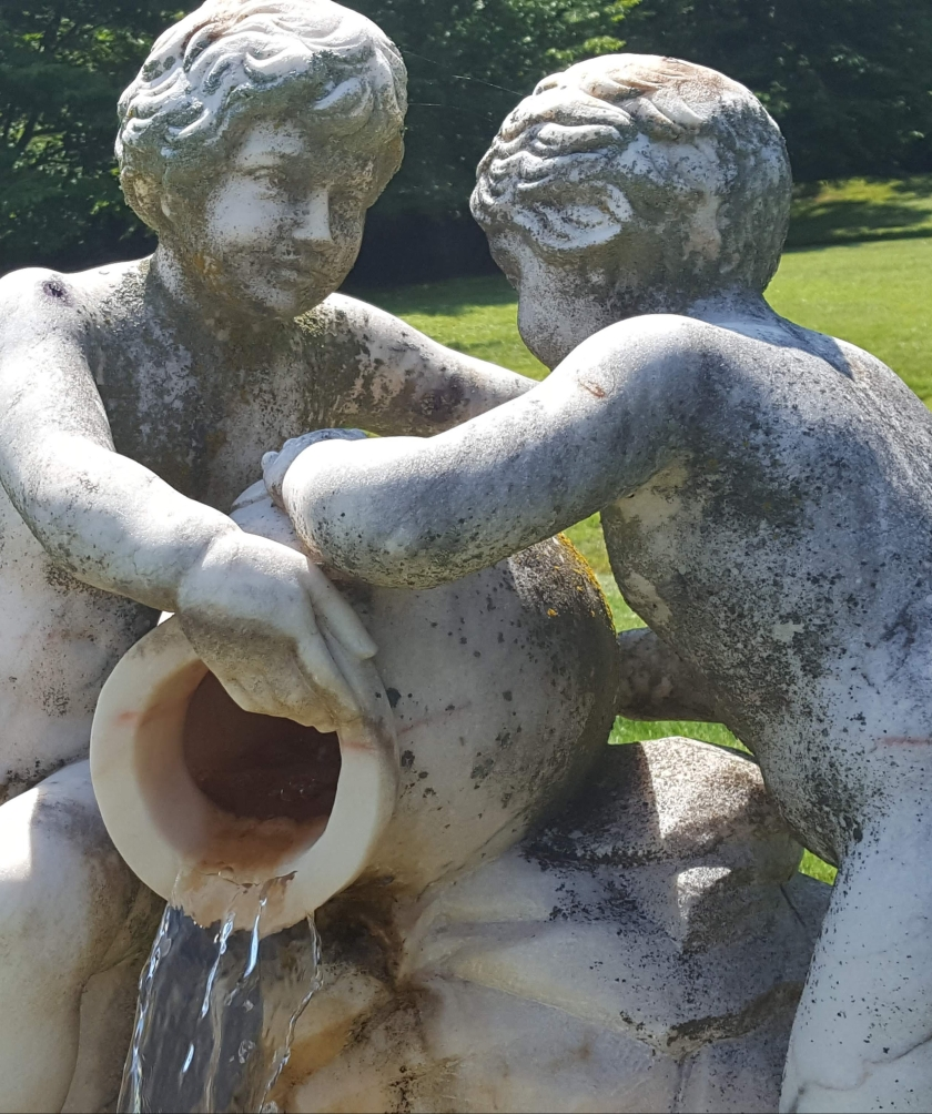Albemarle Estate statue of two pouring water