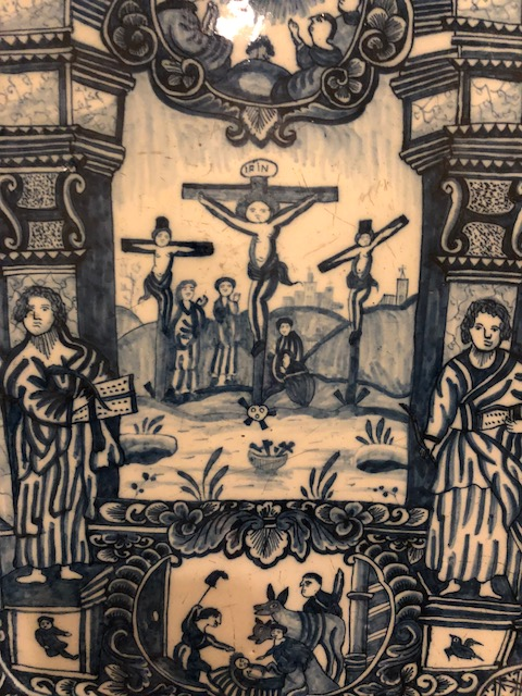 Crucifixion, Dutch Delft, 18th century