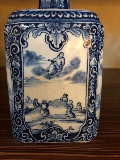 Delft bottle w Ascension of Jesus