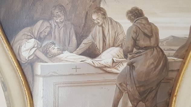 Albemarle Estate chapel, Jesus' burial