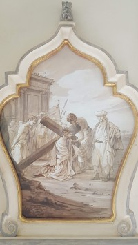 Albemarle Estate chapel, Jesus w cross