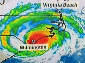 Hurricane Florence map 9-18