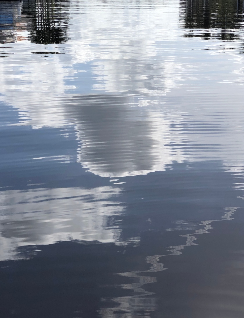 Reflection, clouds in water