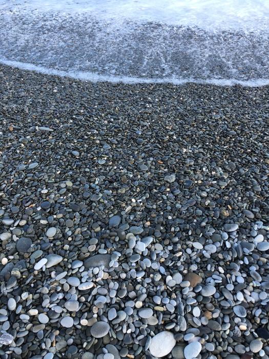 Rocks to sand, NZ coast