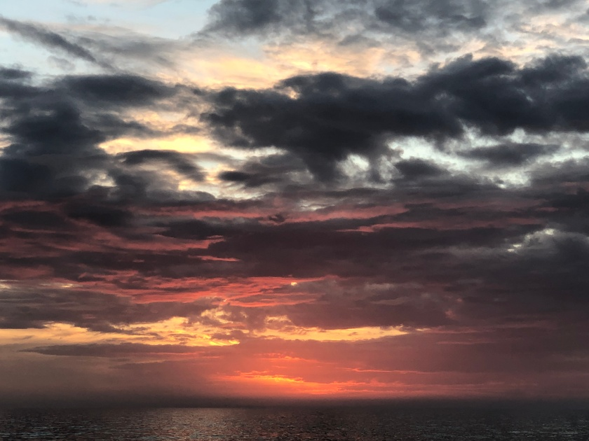 Sunset, December