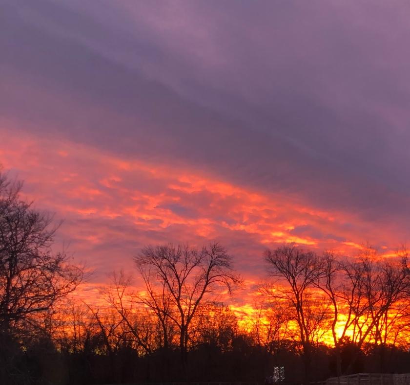 Sunrise in winter, St. Louis