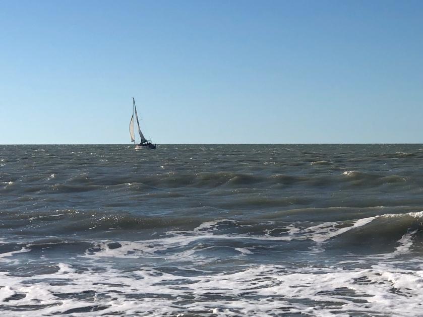 sailboat in wind