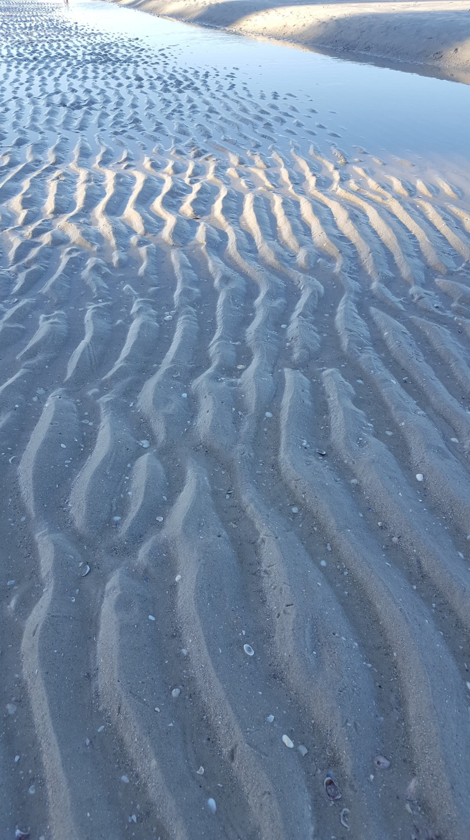 Rivulets in sand, vertical