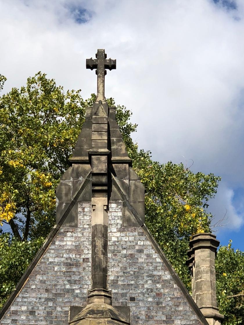 Cross on Scottish Church, stone