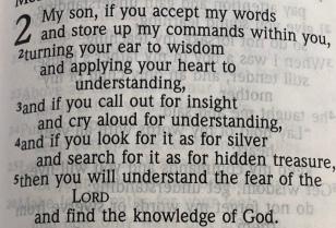 Bible- Proverbs 2:1-4