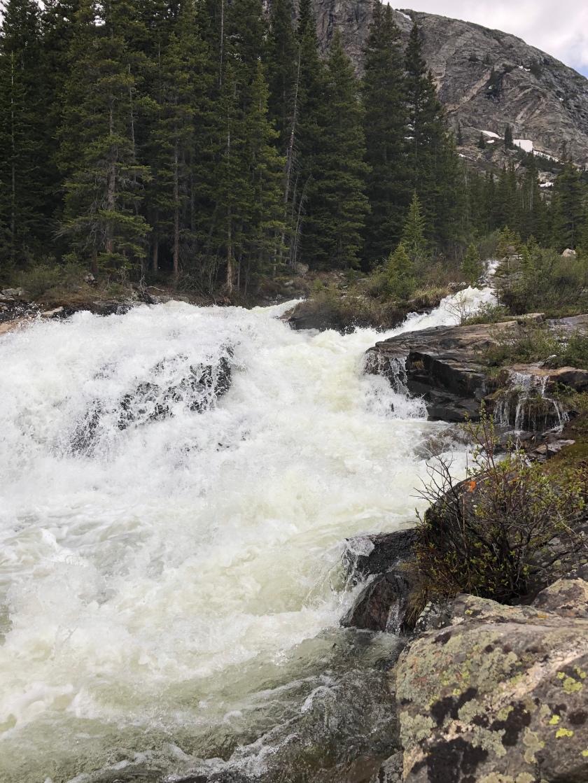 Rushing stream, Hoosier State Park, CO