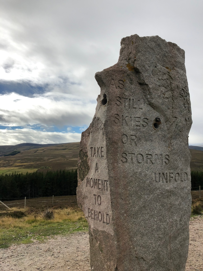 Scotland stone marker: Take a moment to behold