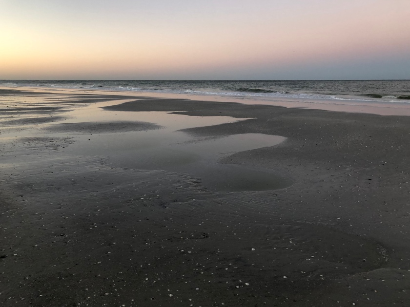 Peaceful Gulf at evening low tide