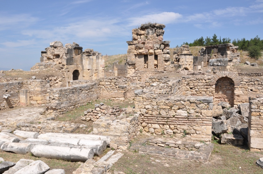 Walls at St. Philip church, Pamukkale, Turkey 2