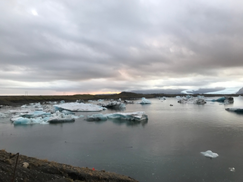 Iceland ice floes under clouds (NK)