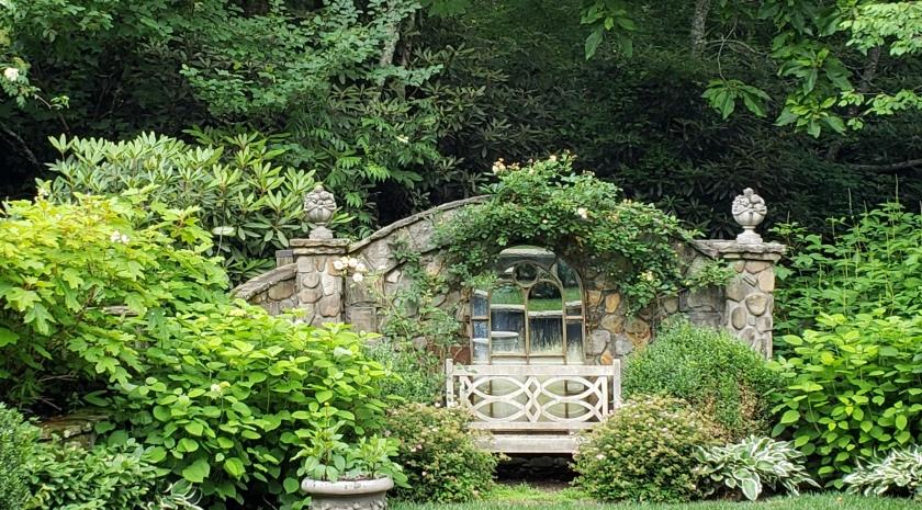 Garden bench, Highlands, NC
