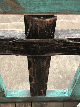 Cross on bench 1 black, Fredericksburg, TX