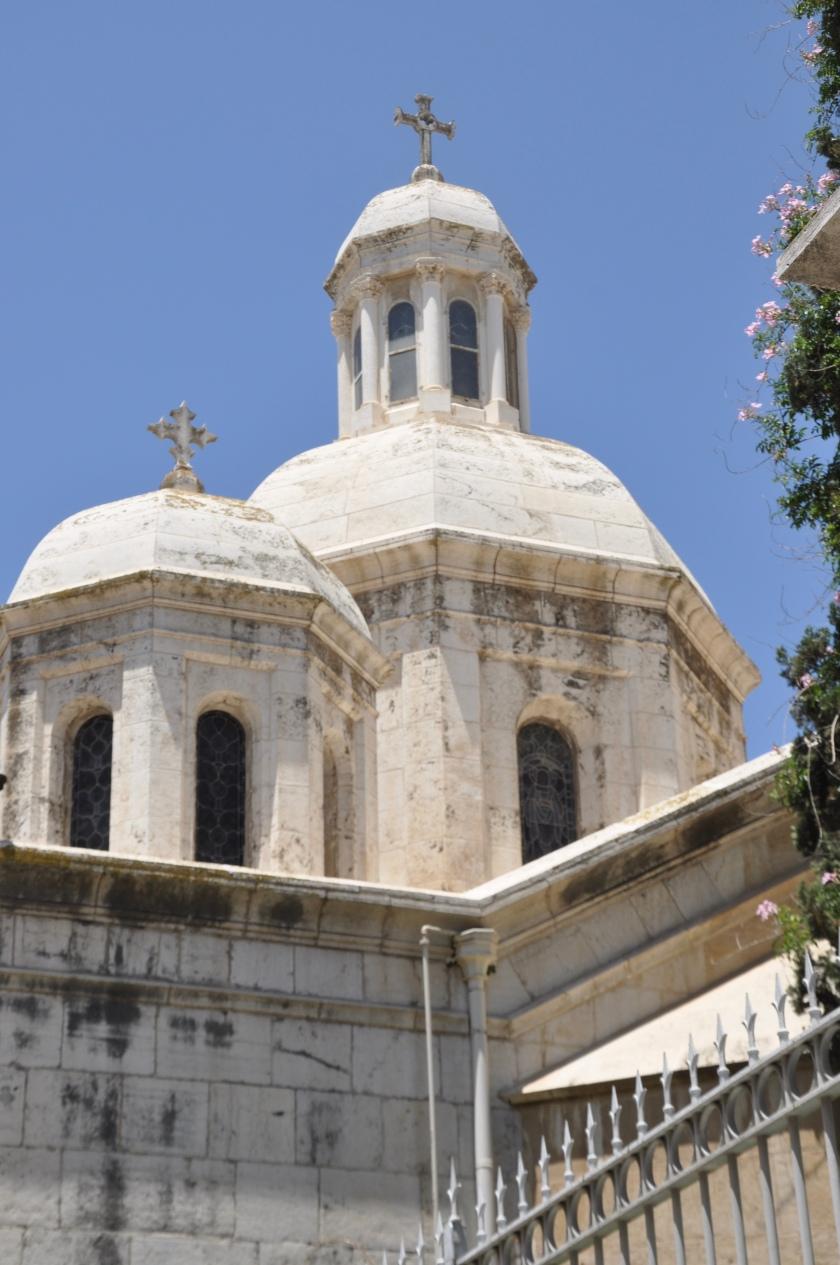 Church domes w crosses, Jerusalem