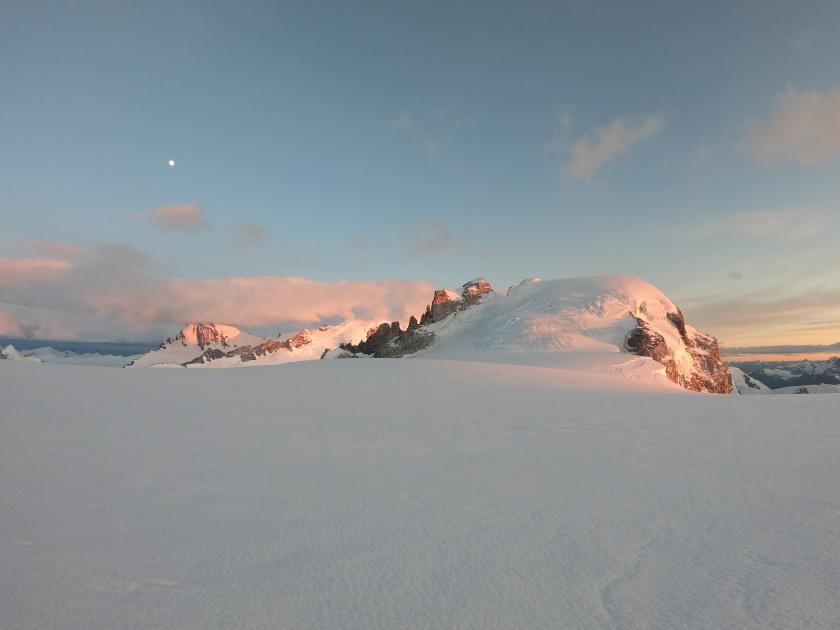 Snow field w rocks in sun, Patagonia (IRS)