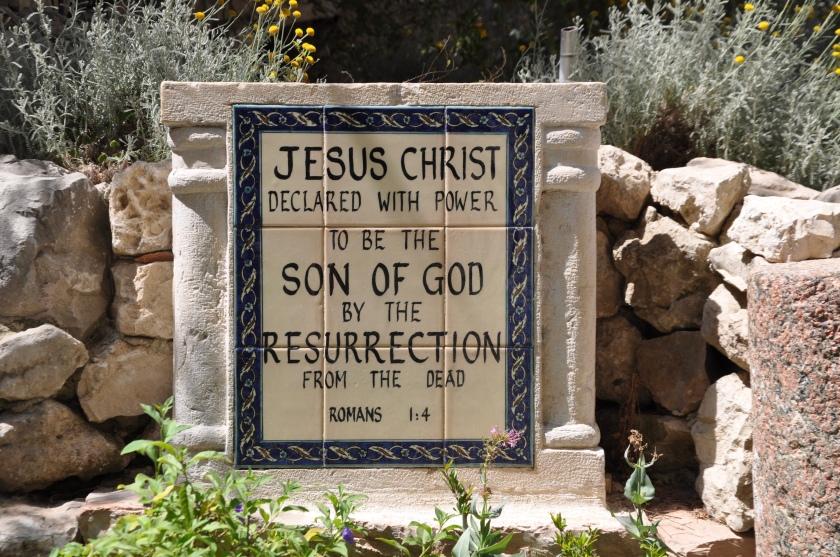 Resurrected Jesus plaque, Jerusalem