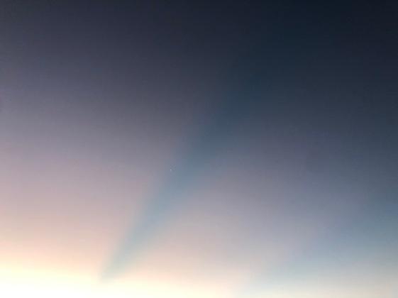 Dawn streaks w planet
